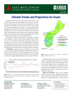 Climate Trends and Projections for Guam. East West Center information sheet