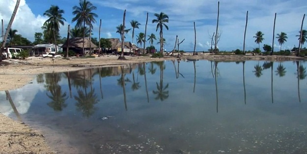 A scene from Kiribati in the documentary The Hungry Tide