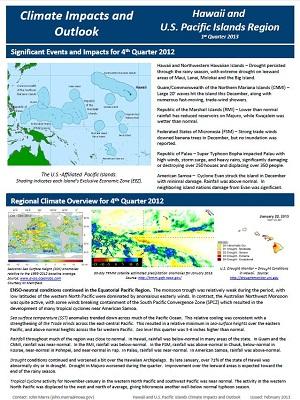 PEAC Outlook for Quarter 1, 2013