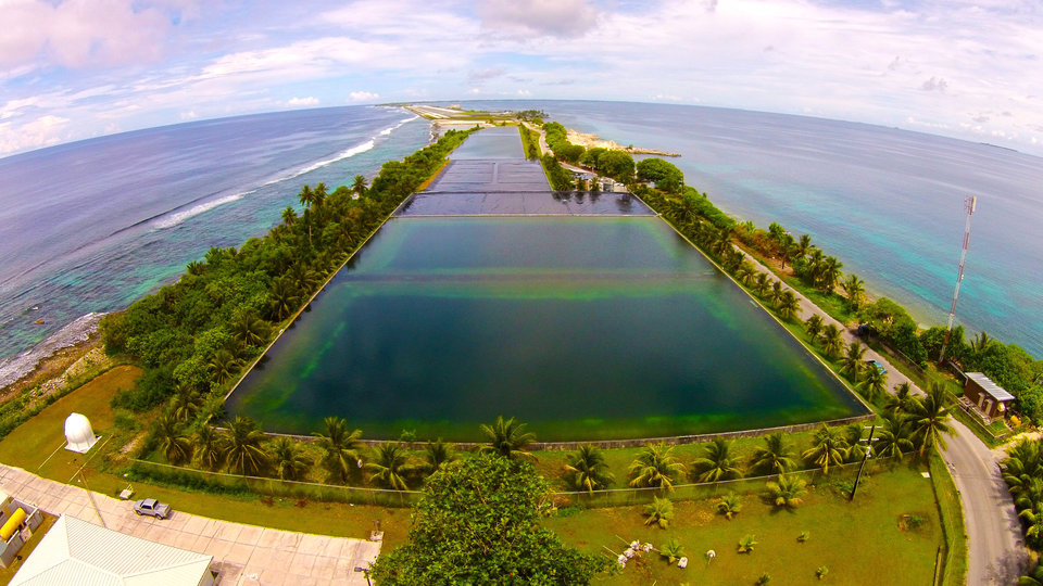 The freshwater reservoir on Majuro Atoll. Source: Majuro Water & Sewer Company